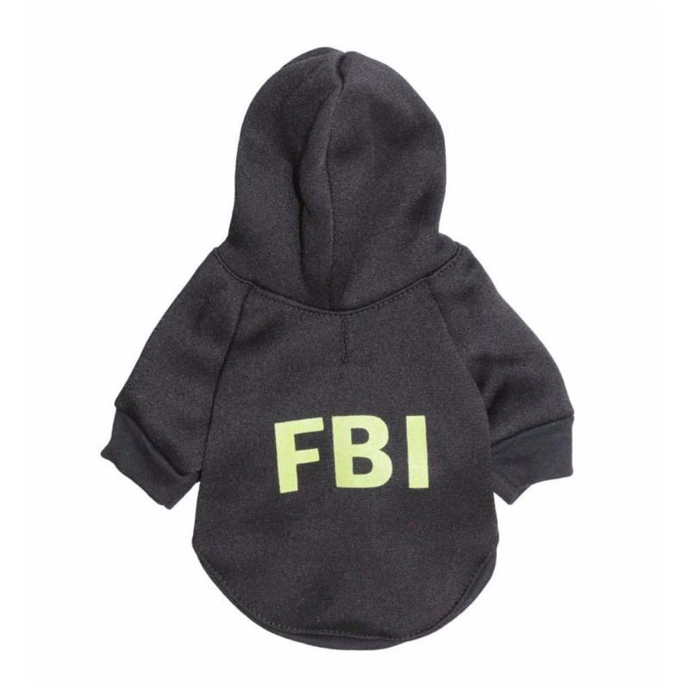 Sweat noir FBI pour chien