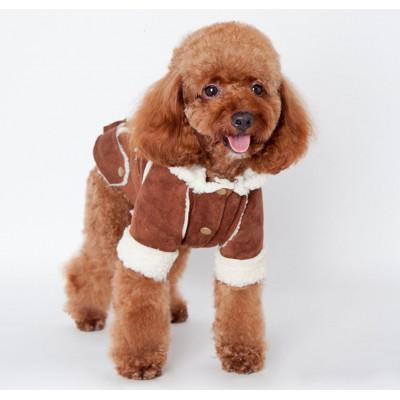 Doudoune molletonnée pour chien