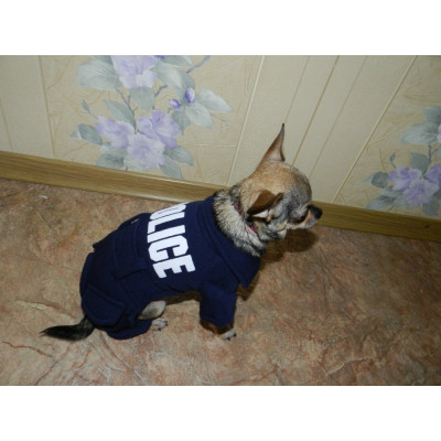 tenue de police pour petit chien