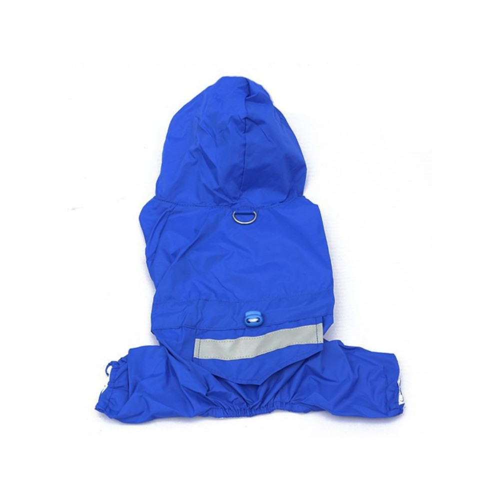 Imperméable bleu uni pour chien