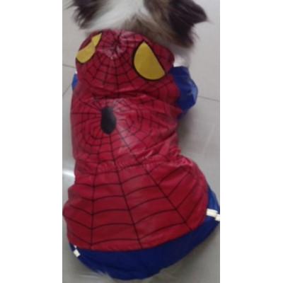 Protection pluie spiderman pour chien