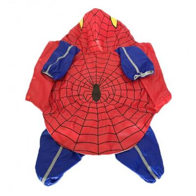 tenue de pluie spiderman pour chien