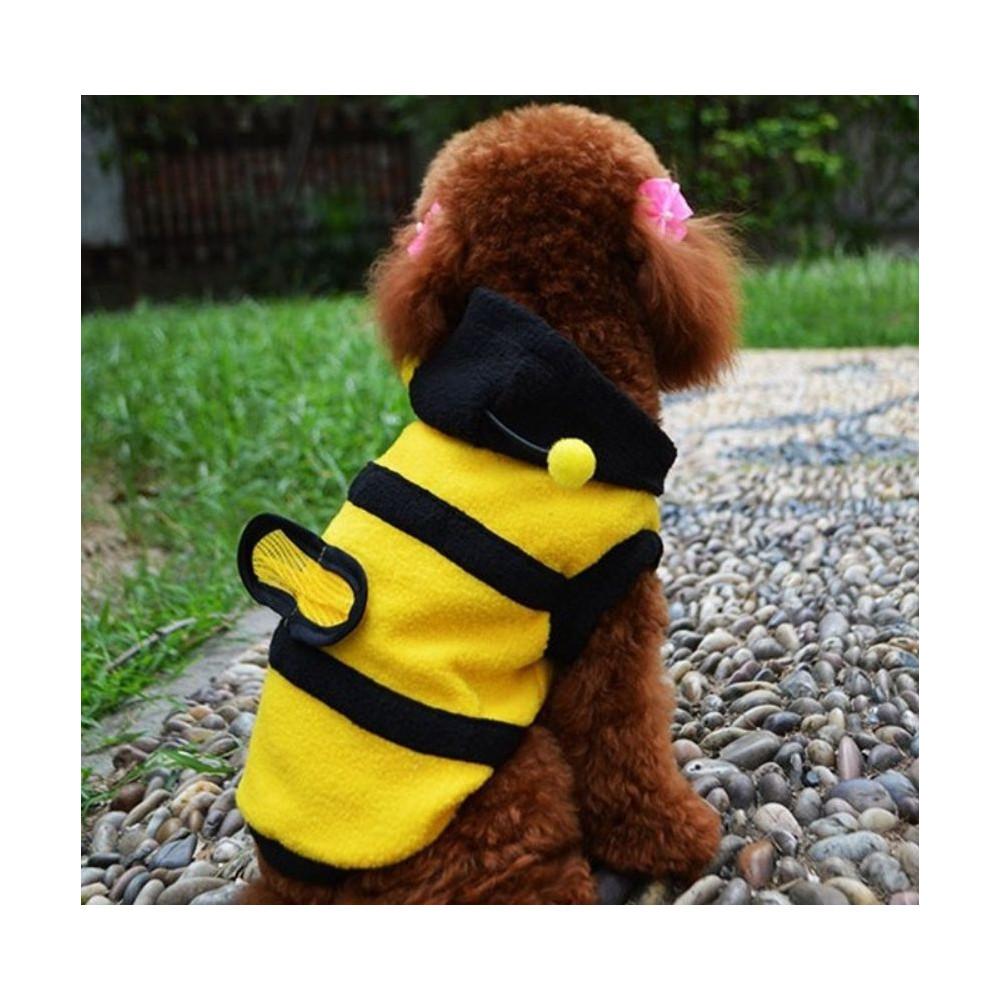 Déguisement d'abeille jaune et noir pour chien