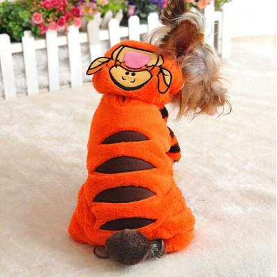 Déguisement de tigre de qualité pour chien