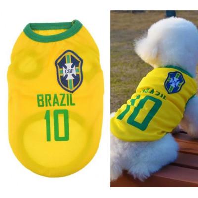 t-shirt de foot pour chien