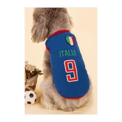 Maillots de football équipe italie pour chien