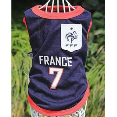 t-shirt foot France pour chien