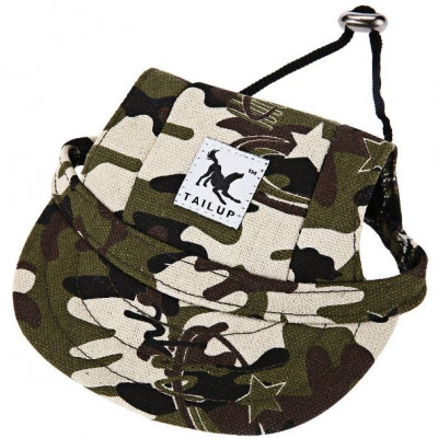 Casquette type camouflage pour chien