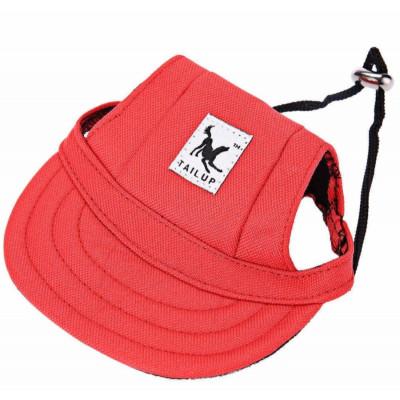 Casquette en toile rouge pour chien