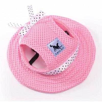 Chapeau couleur rose pour chienne