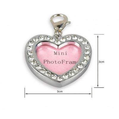 Bijou pendentif cadre photo en forme de coeur pour chien