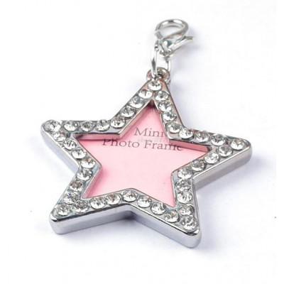 Bijou pendentif cadre photo en forme d'étoile pour chien