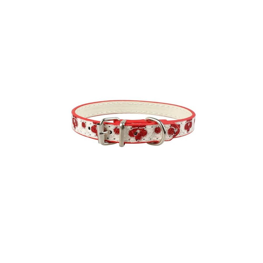 Collier à paillettes et fleurs pour chien