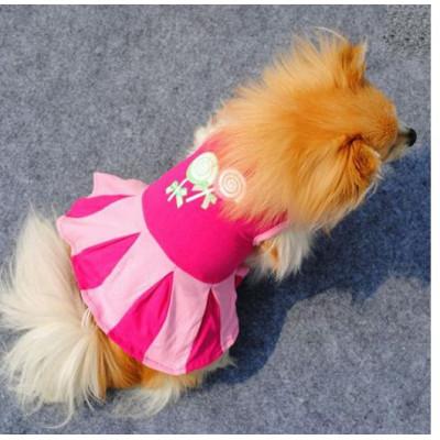 T-shirt robe rose sucettes pour chienne