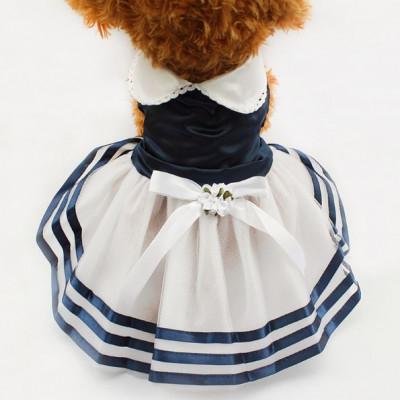 Robe au style marin pour femelle
