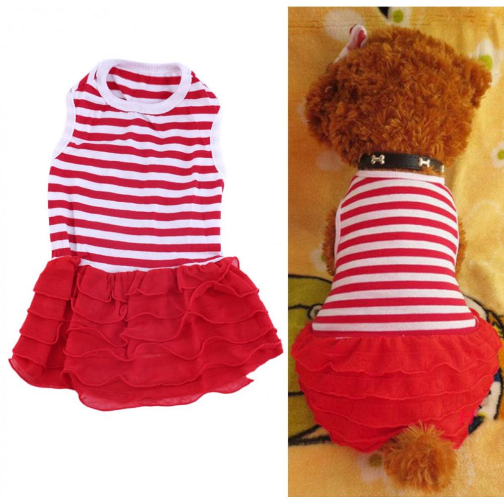 T-shirt-jupon pour chienne