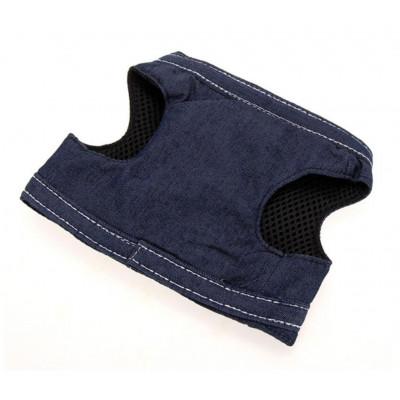 Harnais veste en jean sur chien
