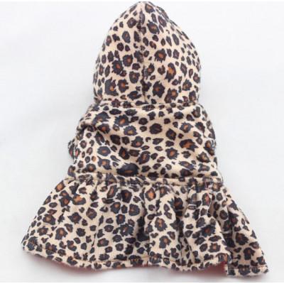 Manteau motif léopard pour petit chien