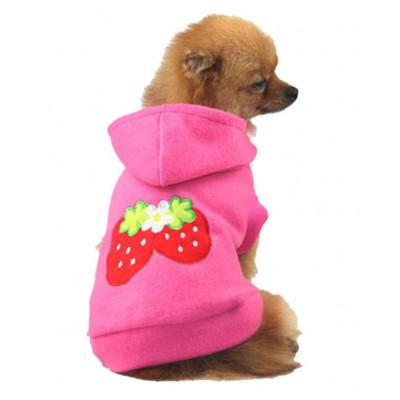 Pull motif fraises pour chien
