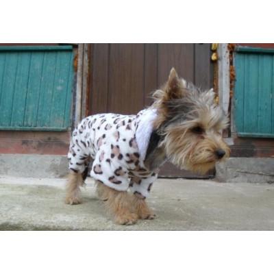 vêtement imprimé léopard pour petit chien