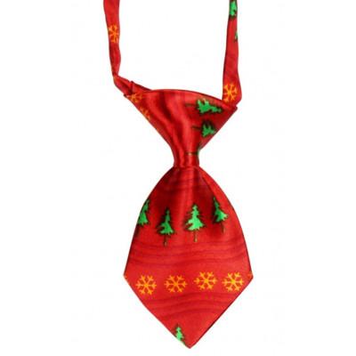 cravate avec sapins pour chien