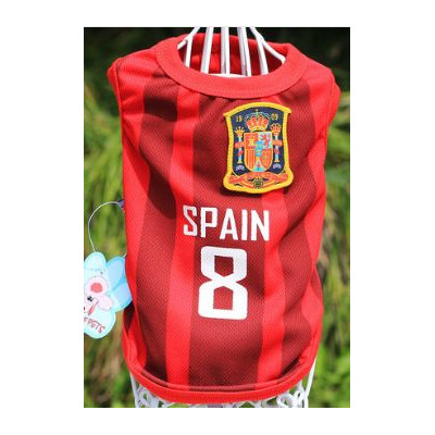 maillot foot équipe Espagne pour chien