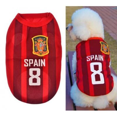 Maillot football Espagne pour chien
