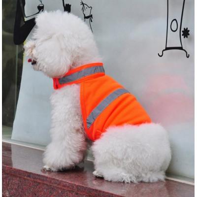 gilet fluo de sécurité pour chien