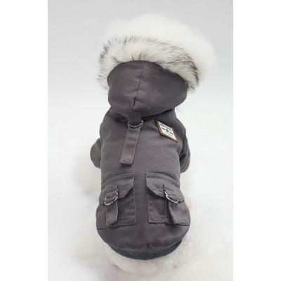Manteau à capuche pour chien
