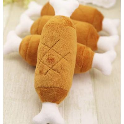 Jouet os tissu pour chien