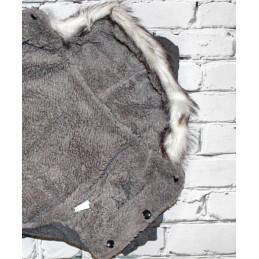 Robe noire avec POMPON et jupon pour chienne