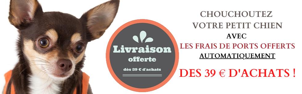 frais de port gratuits vêtements petits chiens